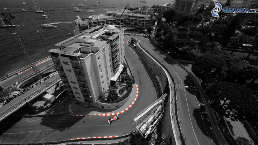lopp, formula, utsikt, Monaco