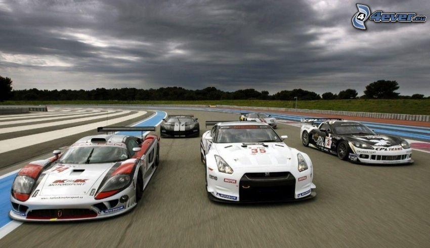 lopp, racerbil, racerbana, Nissan GTR