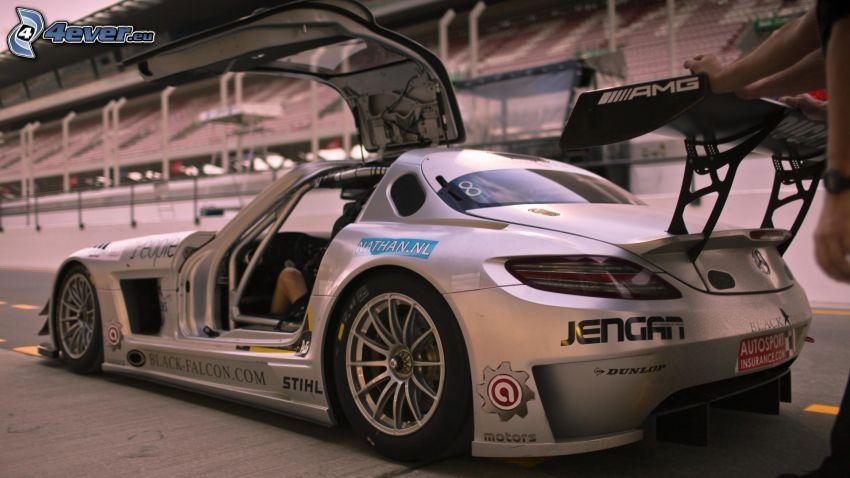 Mercedes-Benz, racerbil, dörr