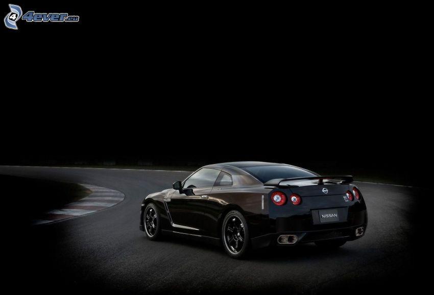 Nissan GTR, kurva, racerbana