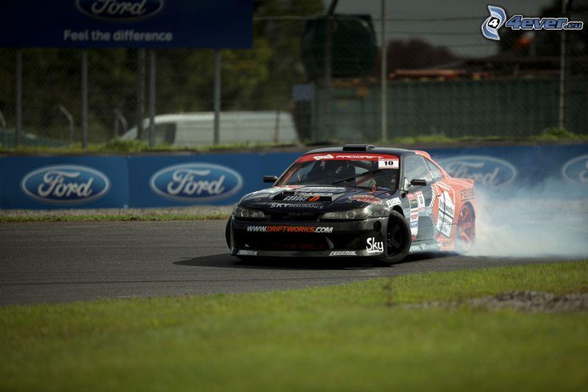Nissan Silvia, drifting, rök