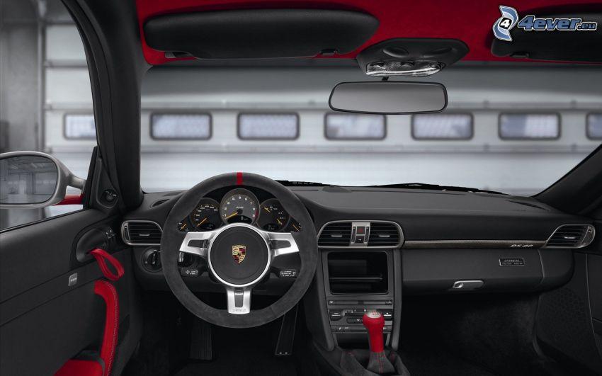 Porsche 911 GT3, interiör, ratt, instrumentbräda