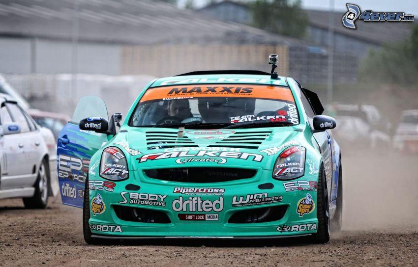racerbil, drifting, damm