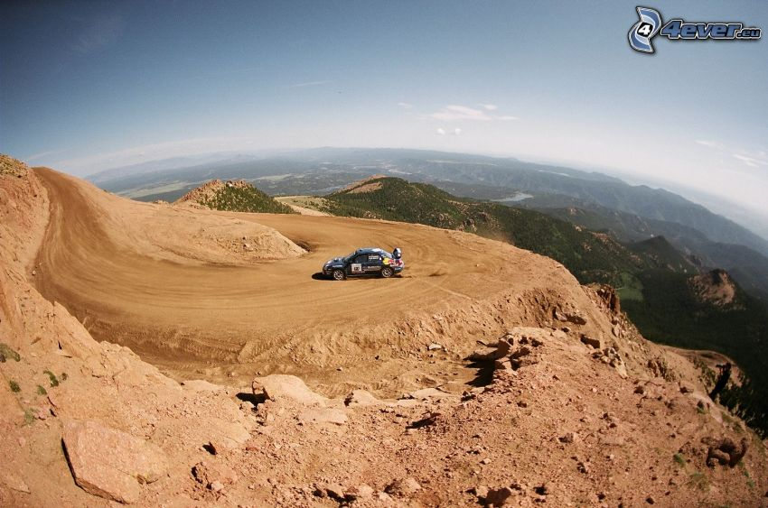 rally, lopp, drifting, landskap
