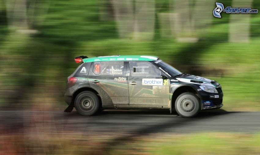 Škoda Fabia, racerbil, fart, rally