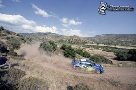 Subaru Impreza, rally, damm