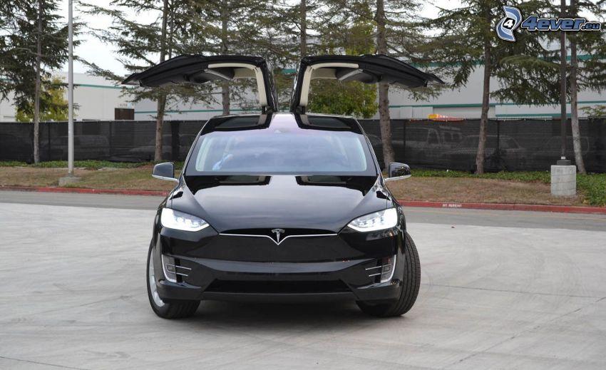 Tesla Model X, dörr, falcon doors
