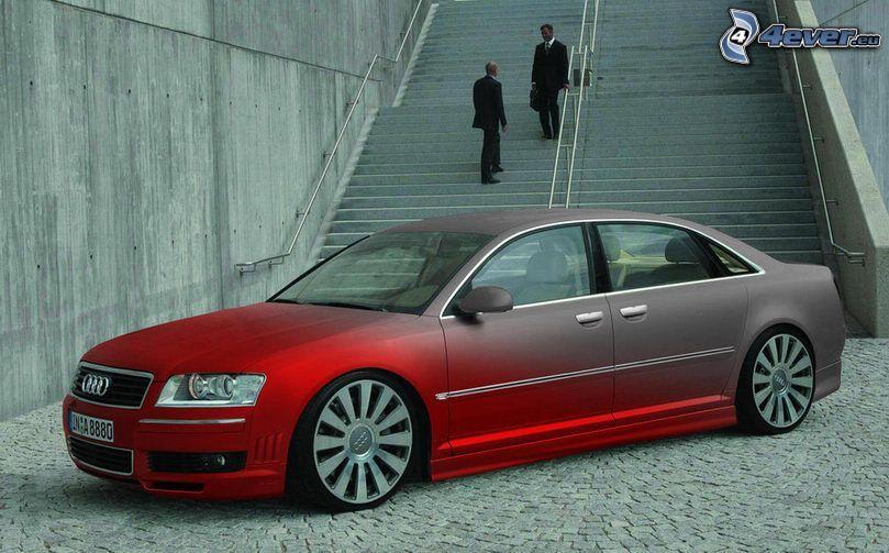 Audi A8, virtual tuning, trappor
