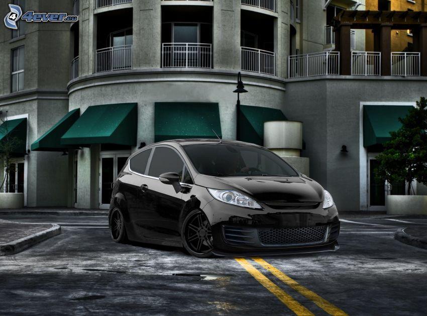Ford Fiesta, lowrider, tuning, hus