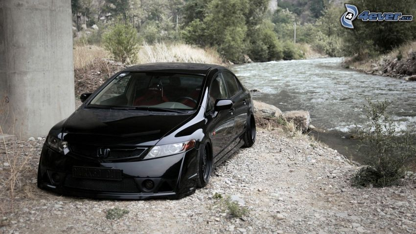 Honda Civic, tuning, bäck