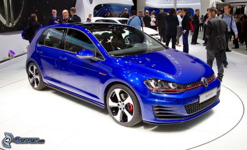 Volkswagen Golf, utställning, människor