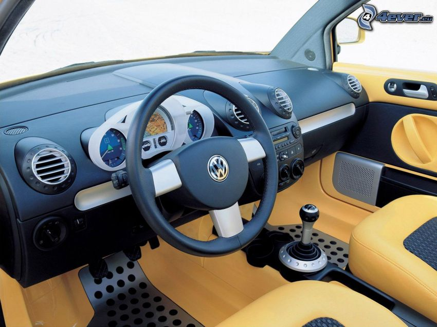 Volkswagen New Beetle, interiör