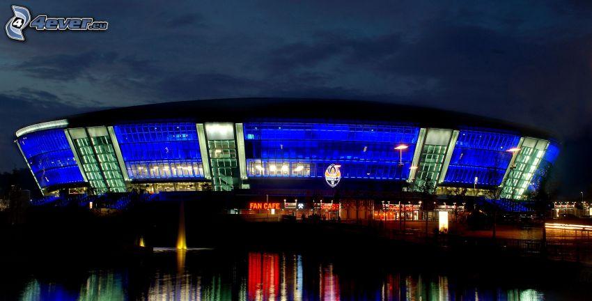 arena, Ukraina, natt, belysning