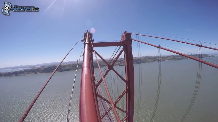 25 de Abril Bridge, utsikt
