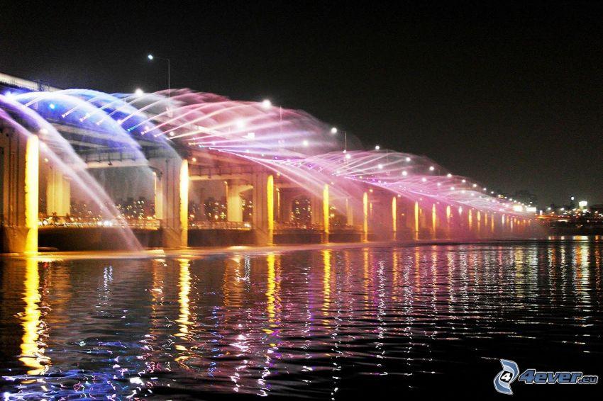 Banpo Bridge, fontän