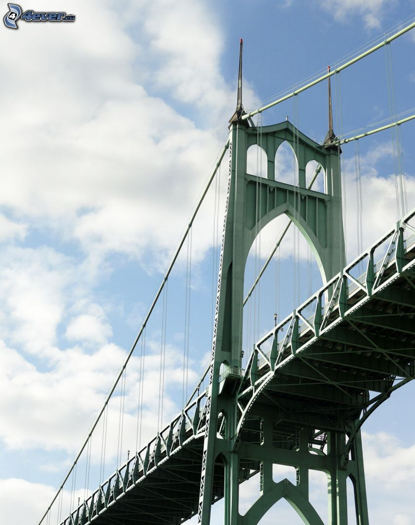 bron St. Johns, himmel