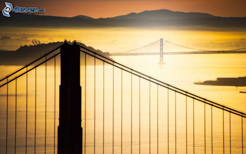 Golden Gate, Bay Bridge, broar, San Francisco