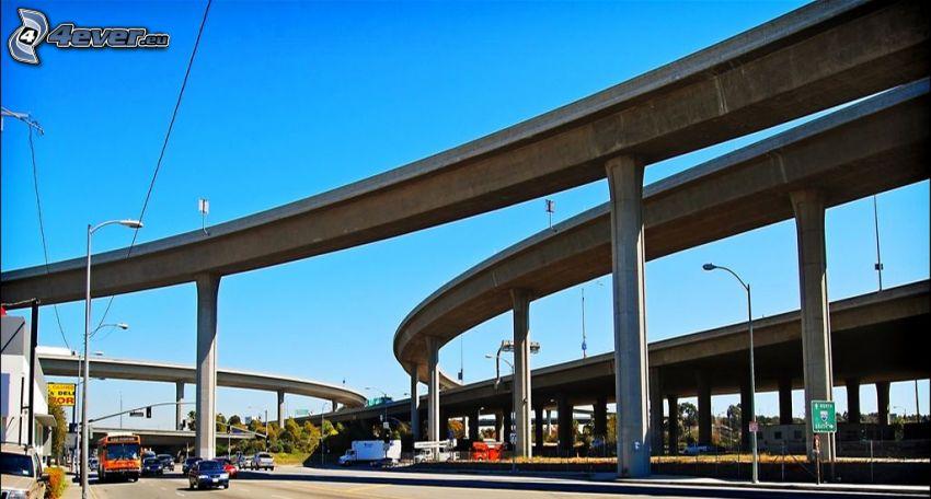 motorvägskorsning, broar
