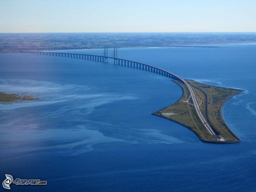 Øresund Bridge, hav