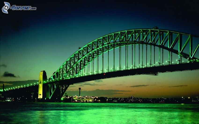Sydney Harbour Bridge, kväll