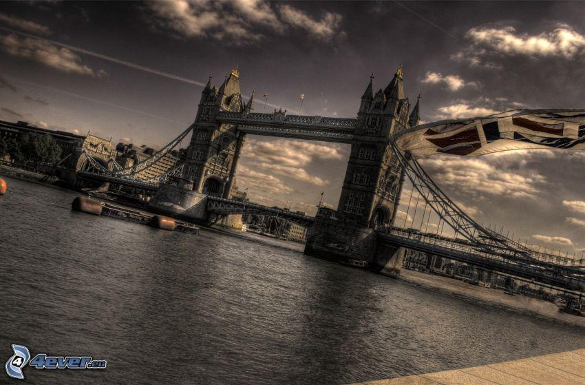 Tower Bridge, London, Thames, HDR