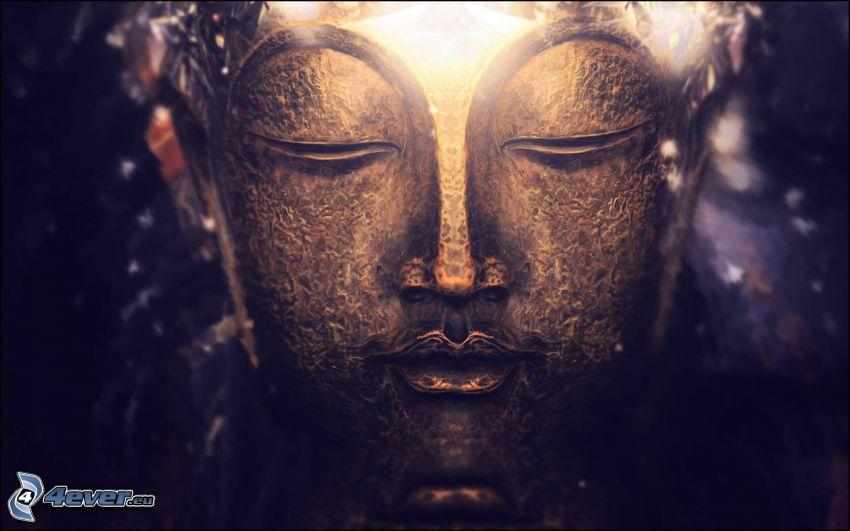 Buddha, ansikte