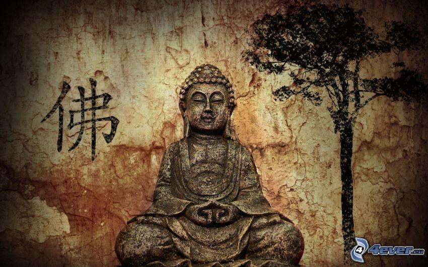 Buddha, träd