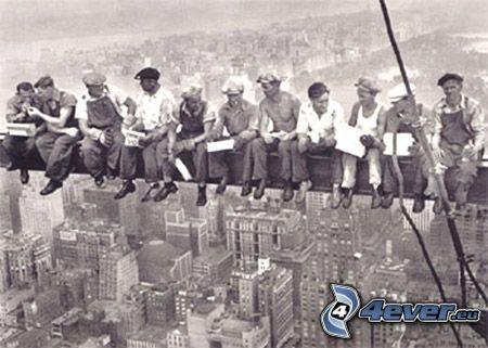 byggnader, arbetare