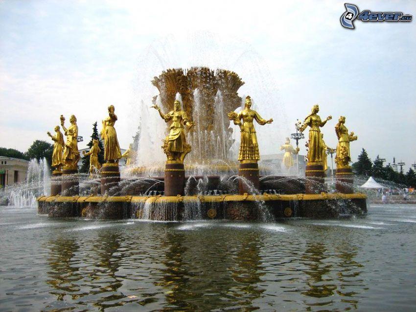 fontän, skulpturer