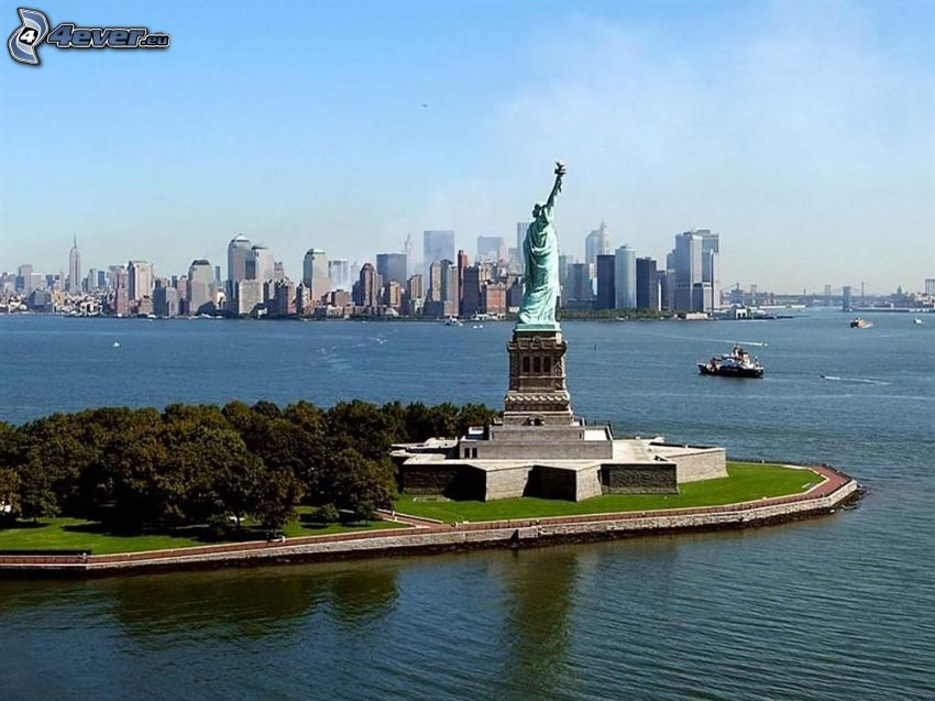 Frihetsgudinnan, New York, Manhattan