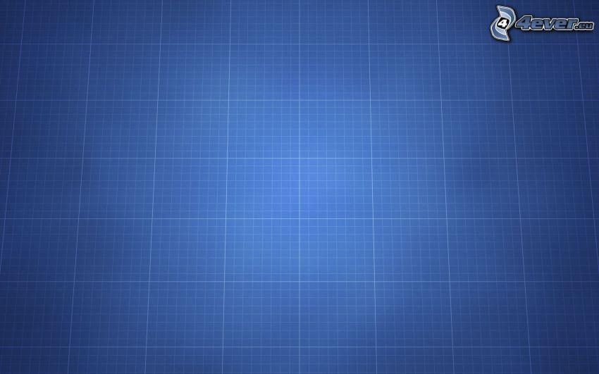 fyrkanter, blå bakgrund