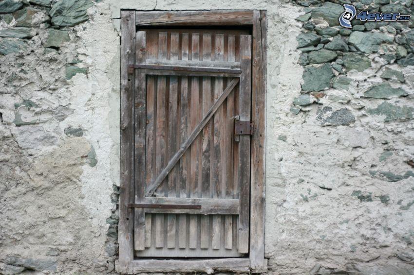 gammal dörr, gammal mur