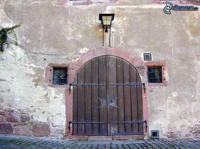 gammal dörr, gränd