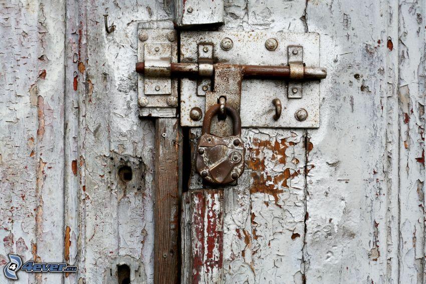 gammal dörr, slott