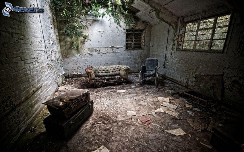 gammalt hus, interiör