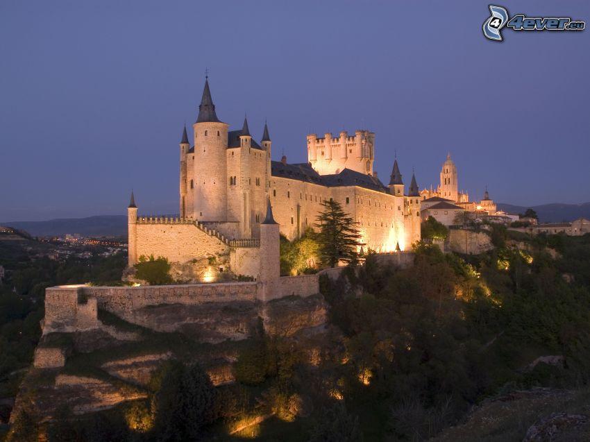 Alcázar of Segovia, kväll