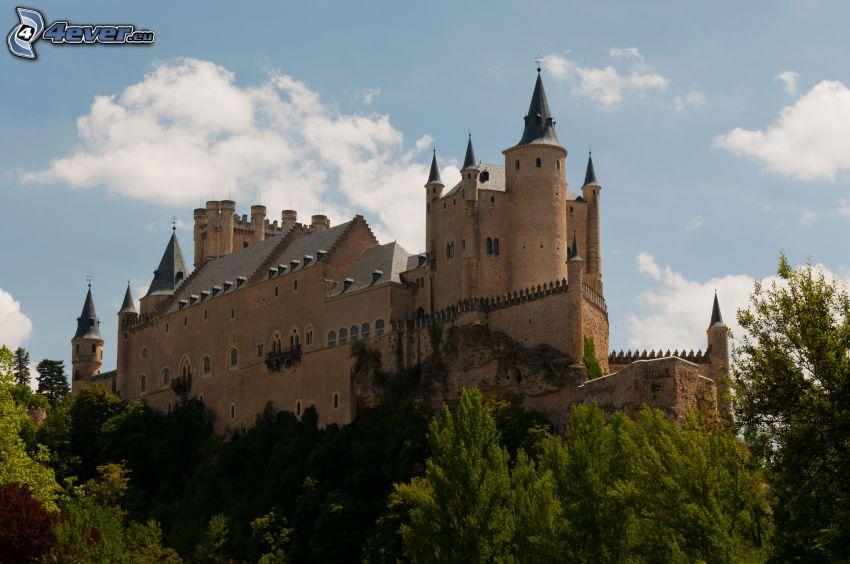 Alcázar of Segovia, träd