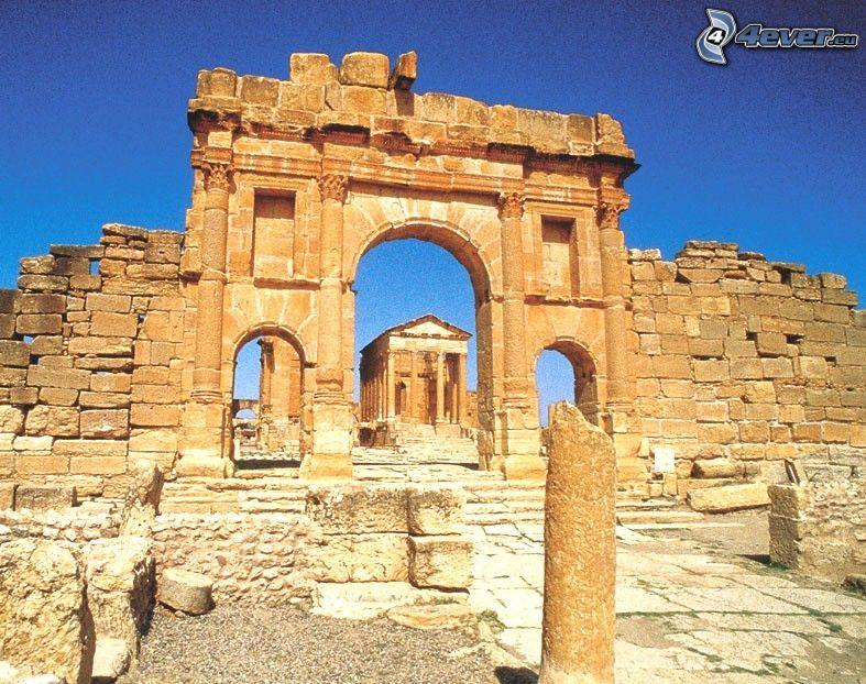 antik byggnad, ruin