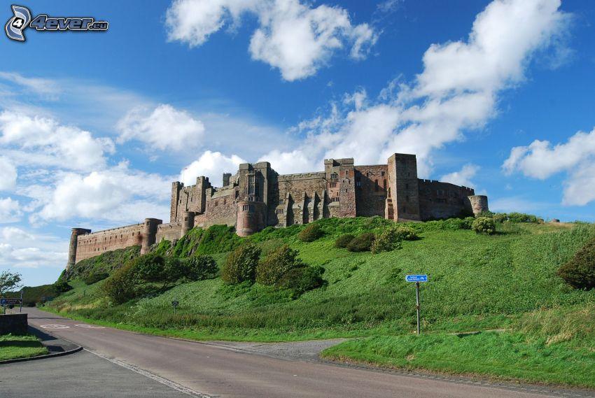 Bamburgh castle, väg