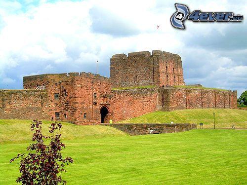 befästning, slott, England, gräsmatta