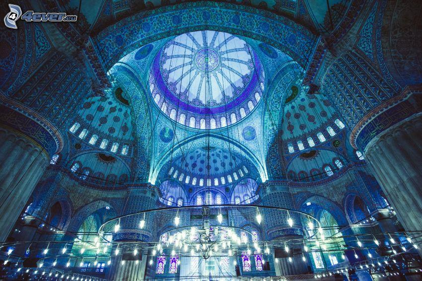 Blå moskén, interiör, valv