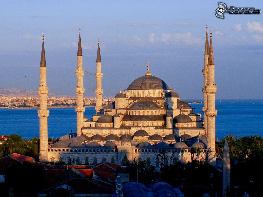 Blå moskén, Istanbul, öppet hav