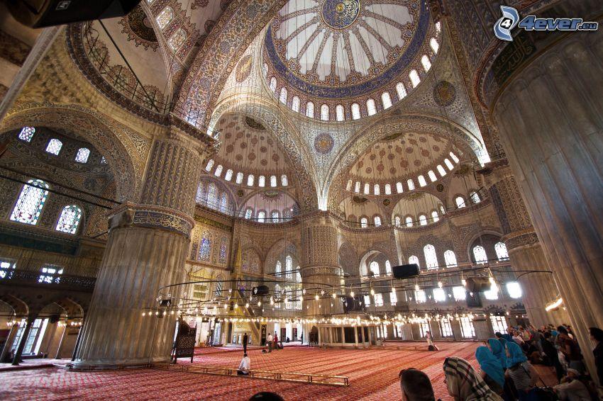 Blå moskén, Istanbul, valv