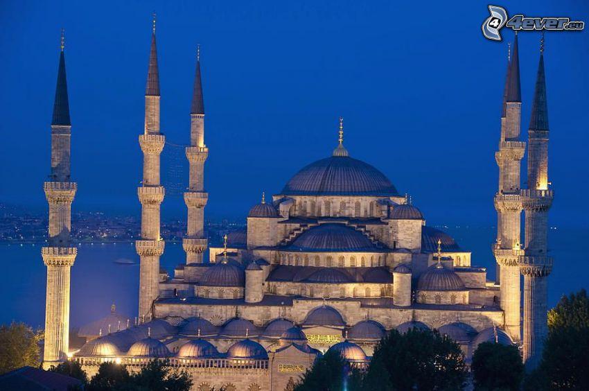 Blå moskén, natt