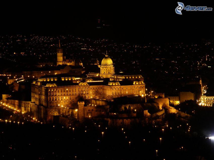 Budapest, natt, ljus