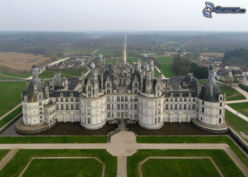 Chambord slott, flygfoto