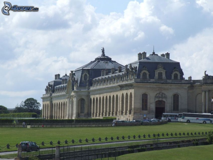 Château de Chantilly, trädgård, parkering