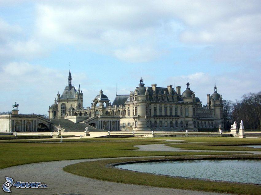 Château de Chantilly, trädgård, sjöar