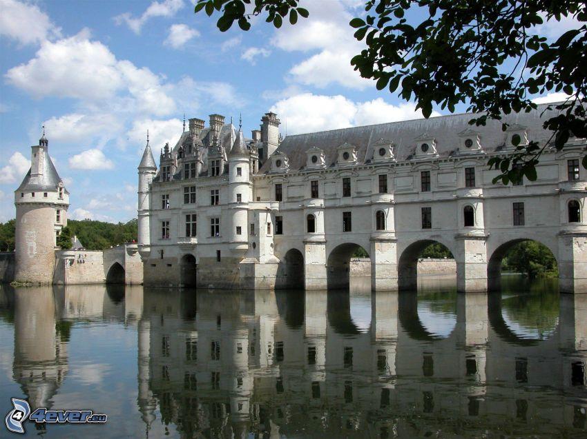 Château de Chenonceau, flod, spegling
