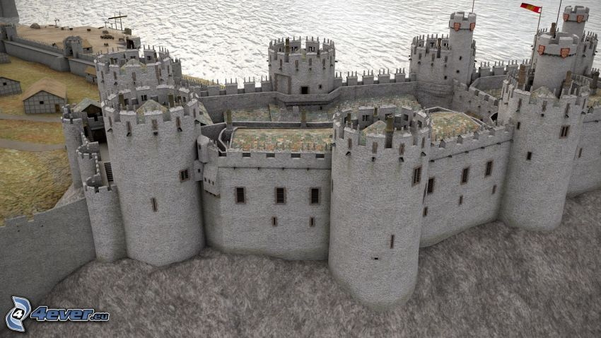 Conwy Castle, torn